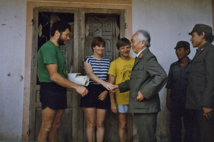 Meeting General Giap in 1992