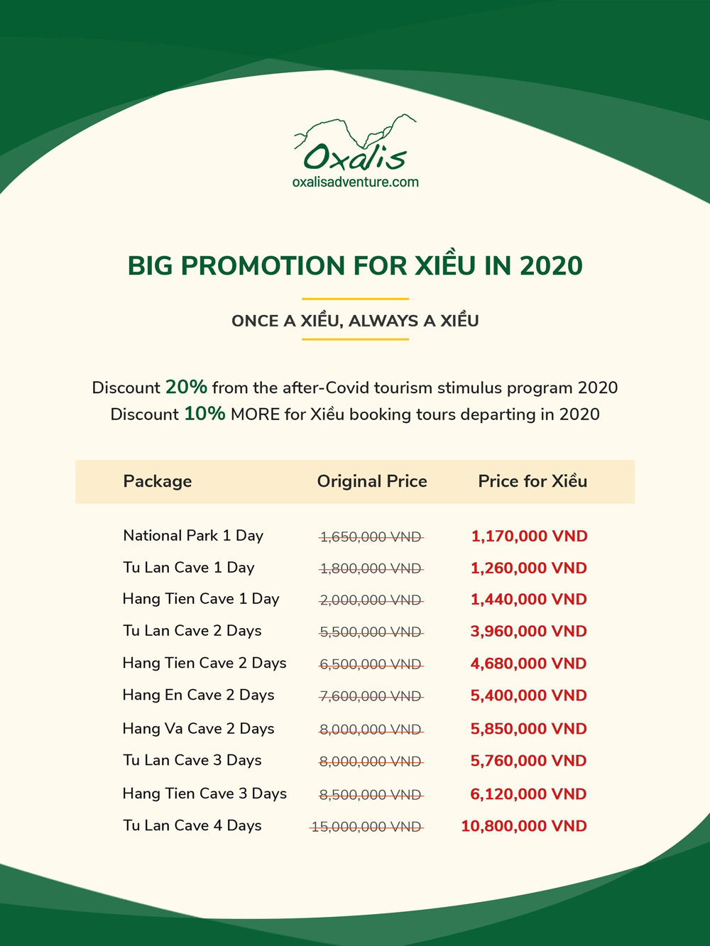 Big promotion for Xiều in 2020